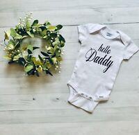 Hello Daddy Gerber Onesie Baby Shower Gift Pregnancy Announcement