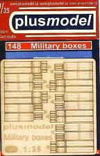 PlusModel Munitionsboxen Kisten Wehrmacht Modell-Bausatz 1:35 Military Boxes kit