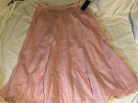 RALPH LAUREN Lined Pink Cotton Skirt Womens Size 10 NEW NWT PINK SANDS