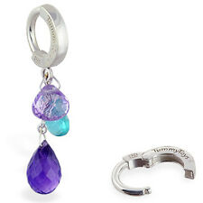TummyToys Natural Gem Belly Ring with Amethyst