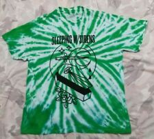 Sleeping with w/ Sirens SWS Band Tee Emo Pop Punk Mens Sz XL Tie Dye Rare!