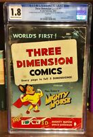 Three Dimension Comic #1 - CGC 1.8 St. John ''1st 3-D Comic''  'MIGHTY MOUSE'