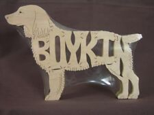 NEW Boykin Spaniel Wooden  Dog  Scroll Saw Toy Puzzle