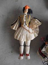 """Older Plastic Ethnic Greek Boy Doll 9"""" Tall"""