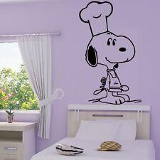 Stickers Mural Snoopy Cuisinier - Choix Taille et Couleur