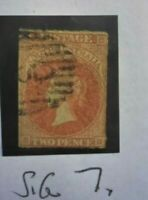 SOUTH AUSTRALIA STAMP SG 7  QUEEN VICTORIA  TWO PENCE 2  MARGINS