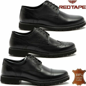 Mens Leather Brogues Smart Formal Office Casual Lace Up Oxford Derby Shoes Size