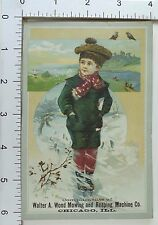 Walter A Wood Mowing & Reaping Machine Co Harvesting Machines Cute Boy Snow *A