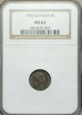 1906 Canada 5 Cents, NGC MS 63, KM-13