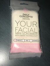 Daily Concepts Your Facial Mini Scrubber Gentle Face Skin Exfoliating Sponge NIB