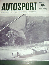 AUTOSPORT AGOSTO 30th 1957 * ASTON MARTIN VINCONO A SPA *
