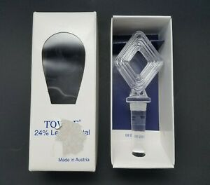 Towle 24% Lead Crystal Quattro Bottle Stopper Made In Austria