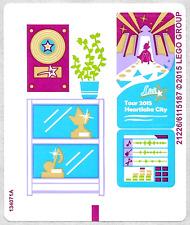 LEGO Friends POP STAR RECORDING STUDIO ~ Replacement STICKER SHEET Set 41103 NEW