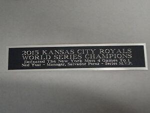 Kansas City Royals World Series Autograph Nameplate for a Baseball Case 1.25 x 6