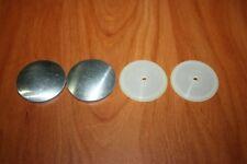 2 Boutons a Recouvrir de Tissu Ø 40 mm Forme Plat Coquille Aluminium Culot Nylon