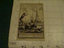 Original Engraving: 1700's or 1800's - LE BERGER ET LA MER FABLE lxii. - 1761 -