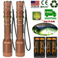 US Tactical 990000Lumens 5-Modes T6 LED 18650 Flashlight Aluminum Zoom Torch Lot