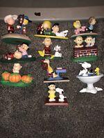 Vtg 1993 PEANUTS Gang Snoopy CLASSIC MOMENTS Danbury Mint 10 Figurines READ DES.