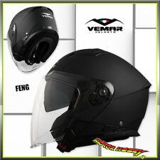 CASCO MOTO JET VEMAR FENG BLACK MATT SOLID OPACO TAGLIA L (59-60)
