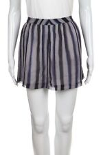 RICHARD CHAI Skirt Small Silver Purple Gray Stripped Skater Flare Mini