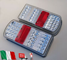 COPPIA LUCI FANALI POSTERIORI  - LED 12V CAMION AUTOCARRO ROULOTTE RIMORCHIO E4
