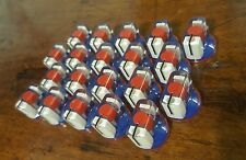 20 JAT Pointer Knobs With Set Screw, Fits Guitar Amps and Pedals. Red/White/Blue