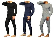 Mens 2PC Top And Bottom Soft 100% Cotton Thermal Underwear Long Johns Set S-XL