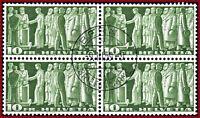 Schweiz 1955 Symbolische Darstellungen 10 Fr, VB m.Zentrumstempel Mi 330x Z 218x