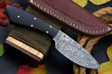 Custom Damascus Steel Hunting Knife Handmade With G-10 Micarta Handle (Z385-C)
