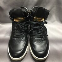 Buscemi Made In Italy Black Shoes 45 US 12 Vera Pelle Leather Locks Keys 100MM