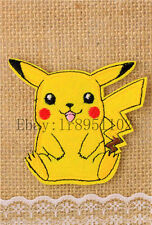 Pikachu Pocket Monster pants hat Iron on Embroidered Badge Applique Patches U233