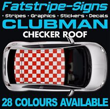 MINI CLUBMAN Checker TETTO grafica Strisce Decalcomanie Adesivi R55 F54 CLUBVAN ALL4