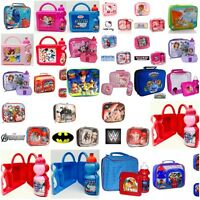 Girls Boys Insulated Lunch Bags Boxes Kids School Picnic Pack Food Bottle