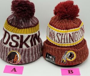 Washington Redskins~NFL~New Era~Beanie~Team Headwear~Cuffed~2 Different Styles