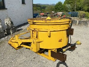 Concrete Pan Mixer Self Loading 800 LTR Tractor Mounted