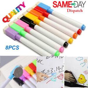White Board Marker 8 Color Magnetic Pens Dry Eraser Easy Wipe Whiteboard Marker