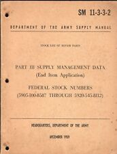SM 11-3-3-2 - Index FEDERAL STOCK NUMBER vers Type Number - Class Radio Mil. US