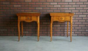 End Tables ~ Chairside Table ~ French Provincial End Tables by DE Bournais