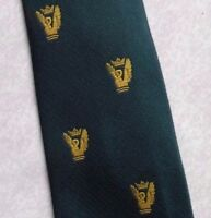 DIGBY CLUB ASSOCIATION TIE VINTAGE RETRO GREEN GOLD CREST 1970s COLLEGE SOCIETY