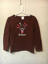 Gymboree Brown Long Sleeved Brilliant Tee Size 4