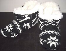 Vans Shoes Keep Cozy Winter Slipper Boots Black White Medium Large NWT Free Ship