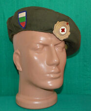 Bulgarian Military RED CROSS Medical Uniform BERET Cap w/t Badge