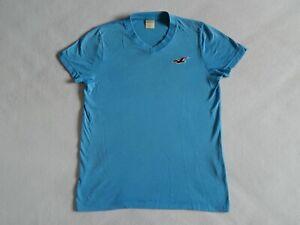 HOLLISTER MENS BLUE V-NECK T-SHIRT ,MENS SIZE SMALL