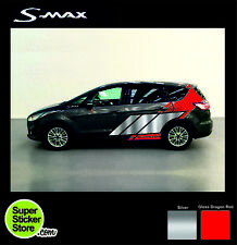 Ford S-MAX Stickers CUSTOM Car Whole Body Styling Decal Vinyl Red Silver