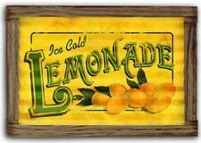 Lemonade Vintage Rustic Framed Barn Wood Corrugated Metal Sign Home Ptscwd026
