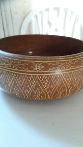Wooden Fancy Fruit Bowl Large