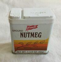 Vintage French's Spice Tin - Empty - 1 1/2 oz. - Ground Nutmeg