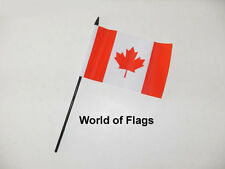 "CANADA SMALL HAND WAVING FLAG 6"" x 4"" Canadian Crafts Table Desk Top Display"