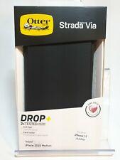Authentic Otterbox Strada Via Folio Case for iPhone 12/iPhone12 Pro (Black) 6.1