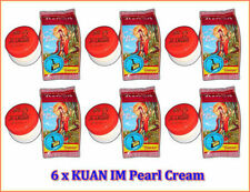 6 x KUAN IM Pearl Cream for Whitening Anti Acne, Blemishes, Dark Spots, Freckles